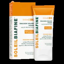 SoleilBiafine Emulsion Solaire Visage Haute Protection Toucher Doux FPS 50