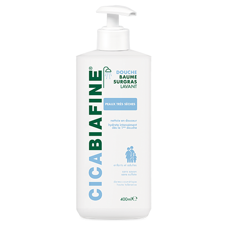 Baume douche surgras hydratant pour peaux sècges et peaux sèches