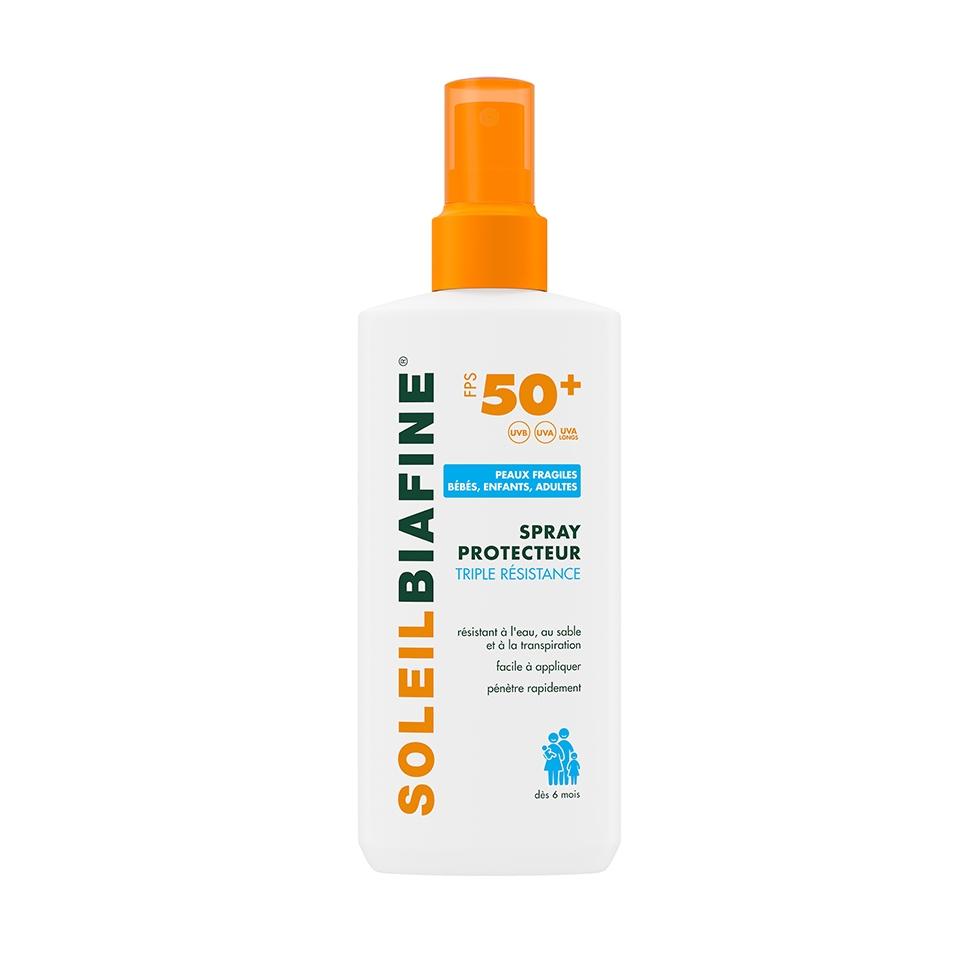 SOLEILBIAFINE Spray Protecteur Enfant Triple Résistance FPS 50+