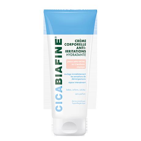 Crème corporelle anti-irritations hydratante peaux à tendance atopique