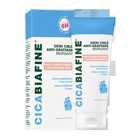 Soin ciblé anti-grattage relipidant pour peaux sèches