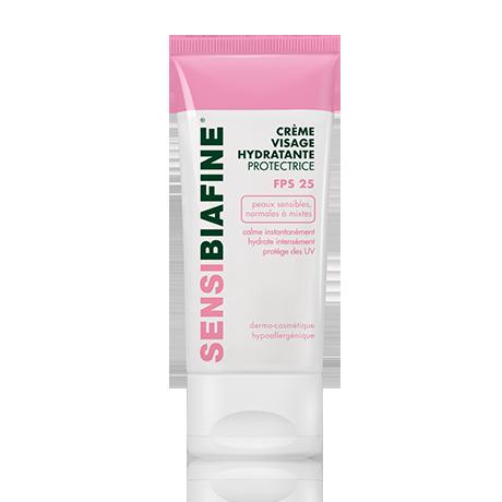 Crème visage hydratante protectrice FPS 25 pour peau sensible