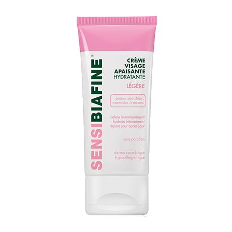 Crème visage hydratante apaisante légère pour peau sensible